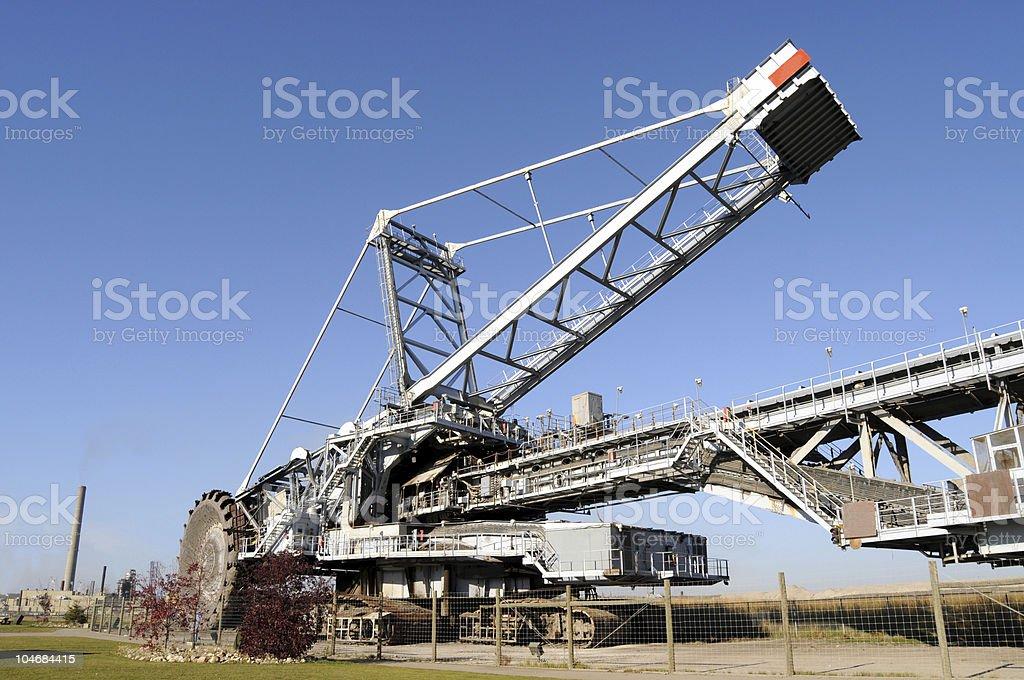 Mining equipment: Bucketwheel reclaimer stock photo