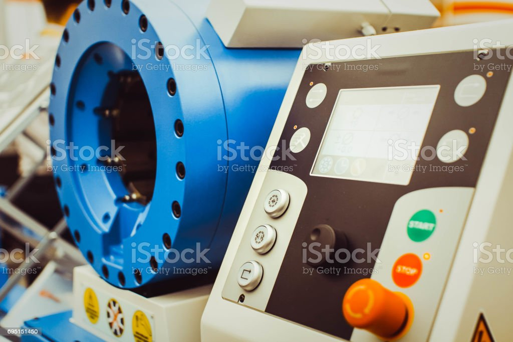 Mining equipment is new at the exhibition stock photo