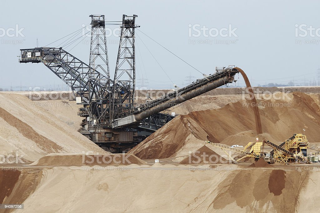 Mining in German stock photo