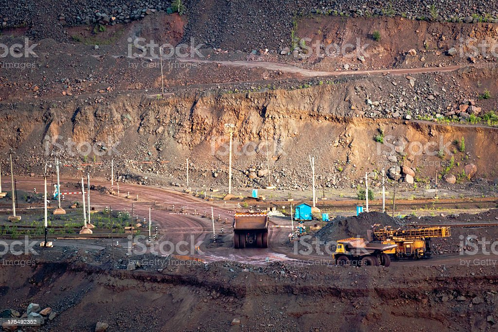 Mining in the quarry royalty-free stock photo