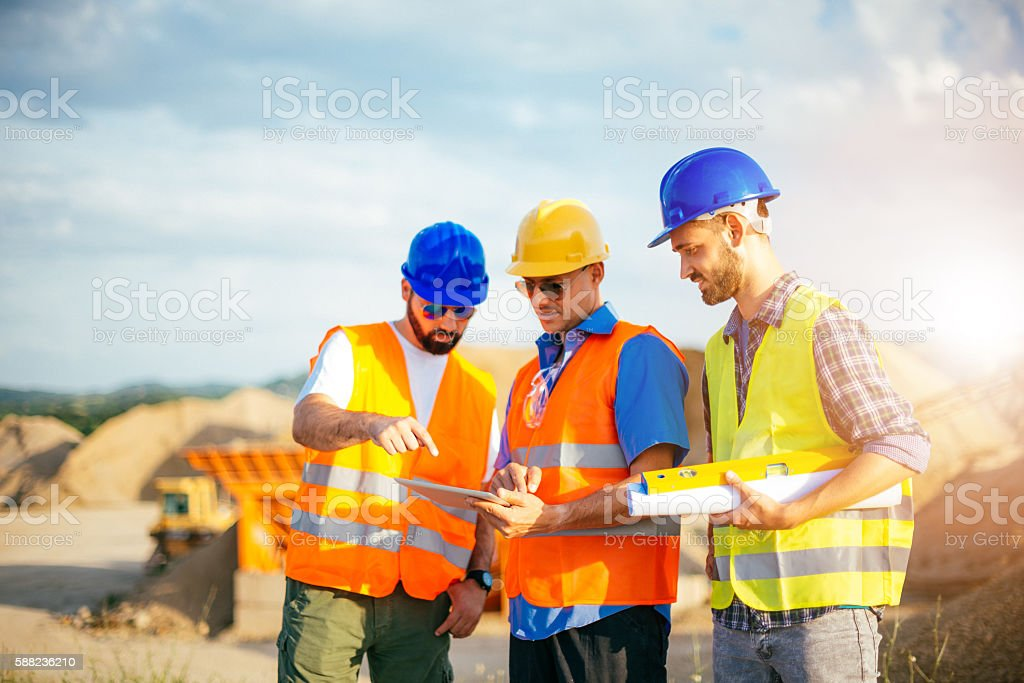 Mining industry expands in underdeveloped countries stock photo