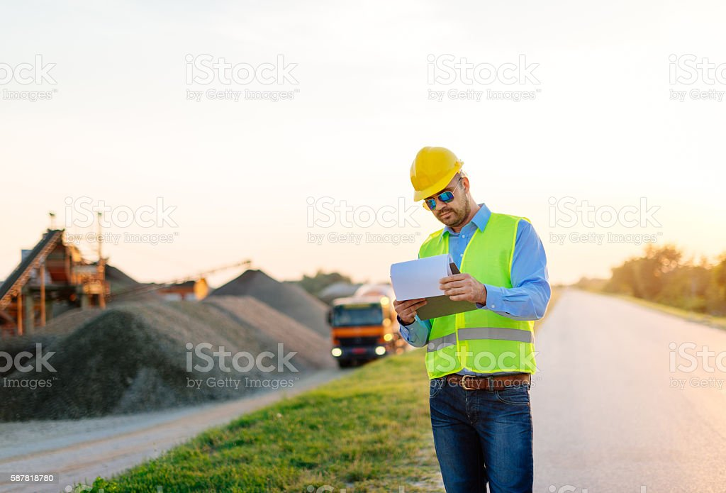 Mining industry in developing countries stock photo