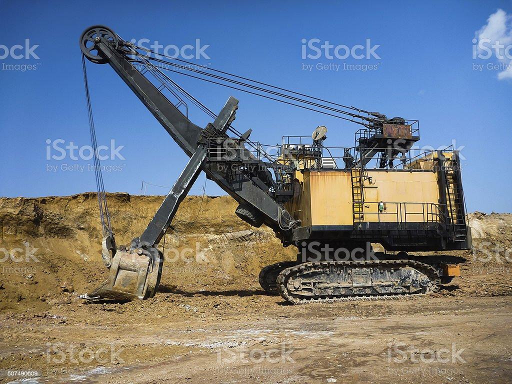 Mining industry machine -  soil excavator stock photo