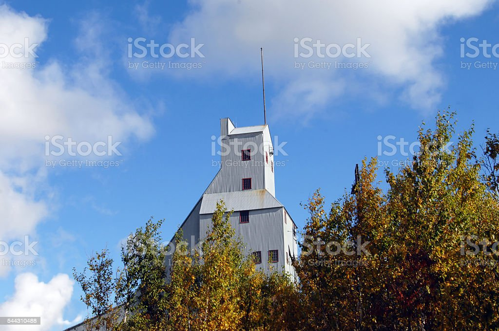 Mining Relic in Keweenaw National Historical Park stock photo