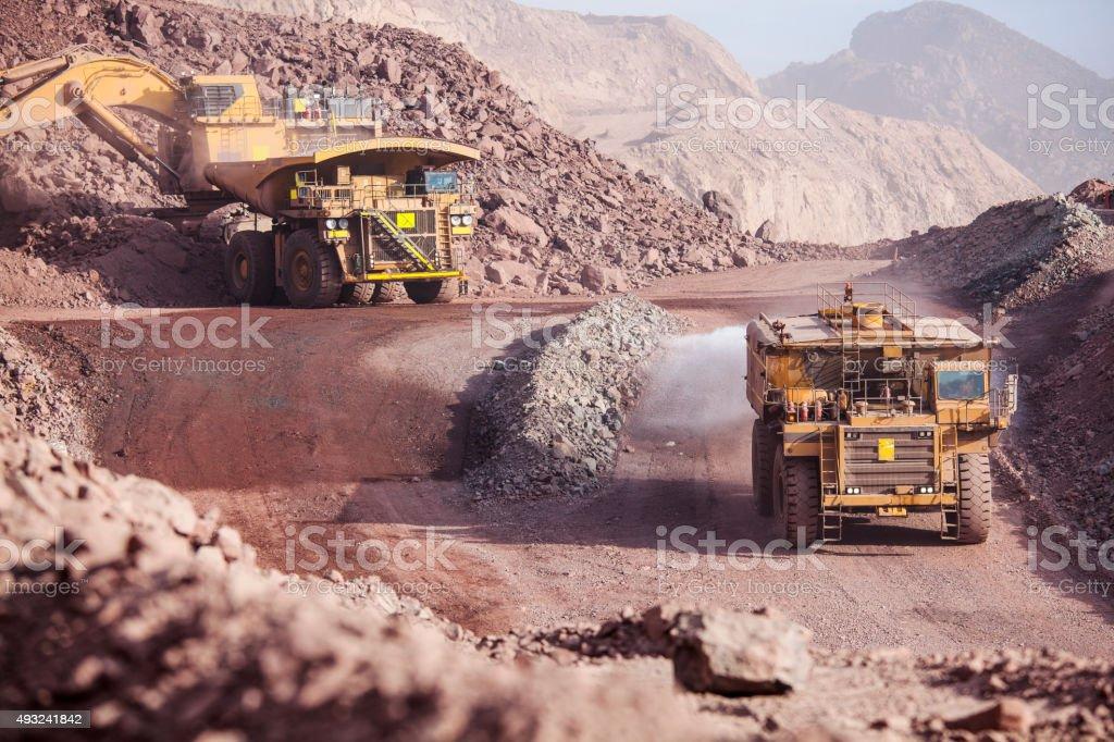 Mining Trucks stock photo