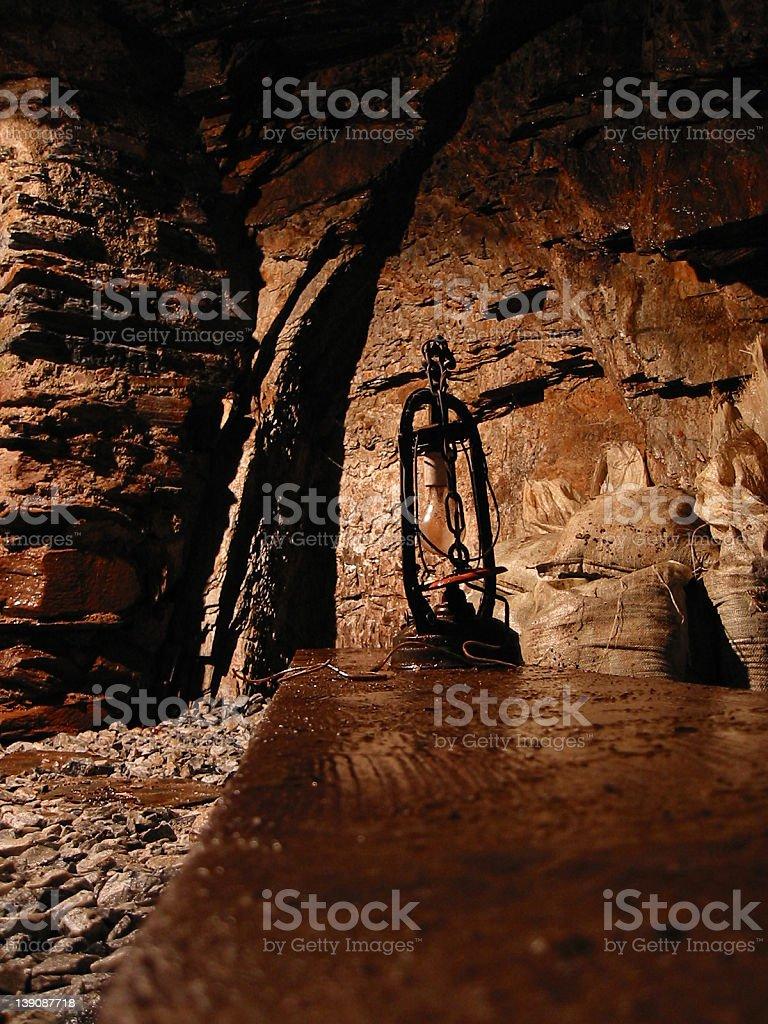 Mining Tunnel stock photo