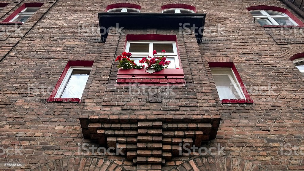 Mining workers' housing estate stock photo