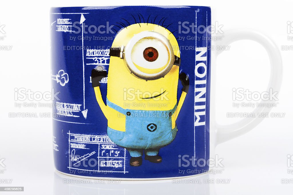 Minion mug stock photo