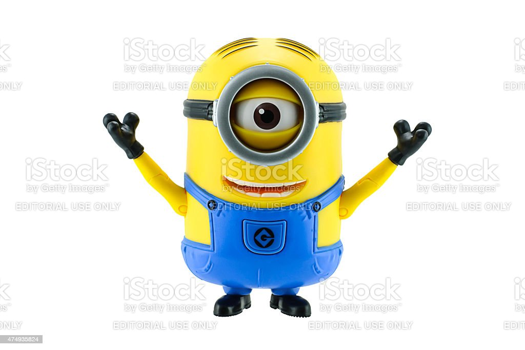 Minions toy isolated on white background stock photo