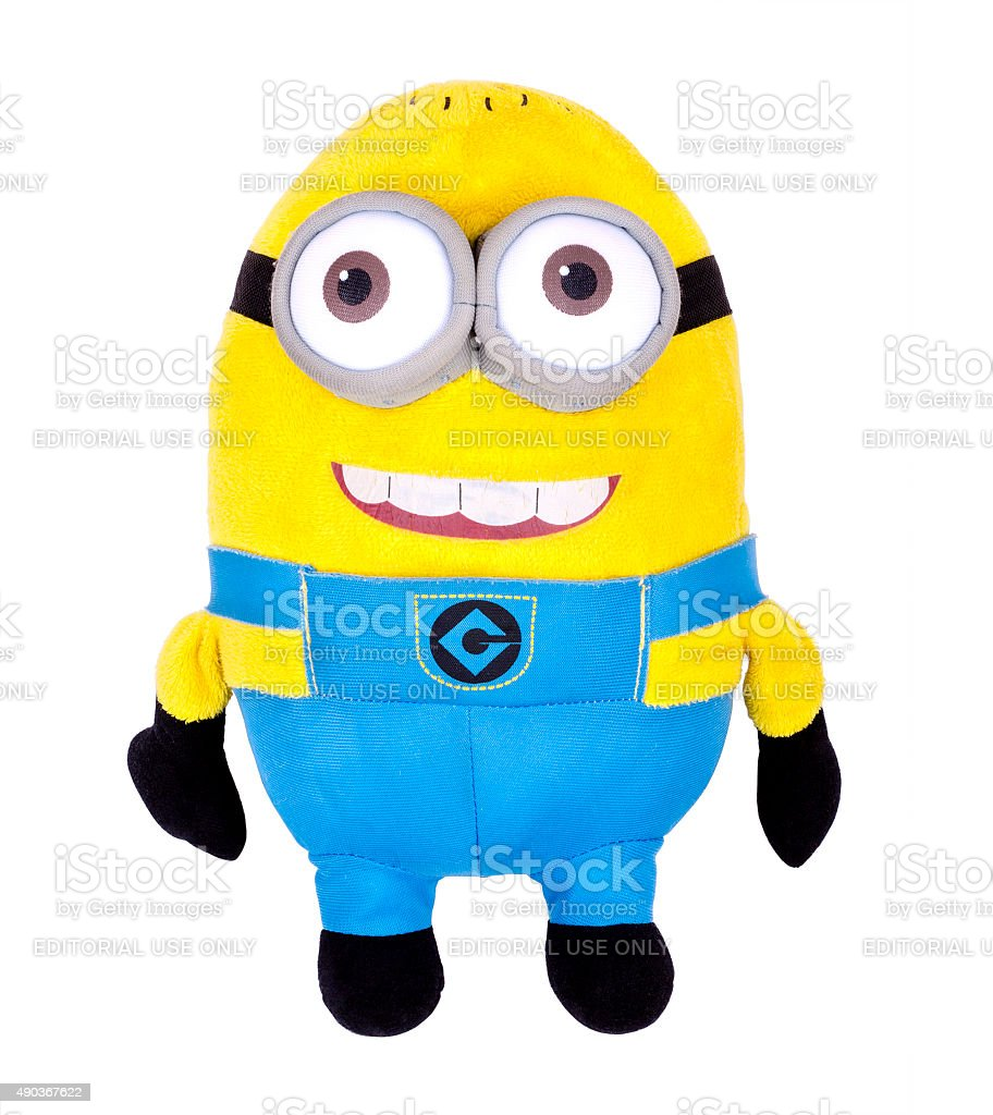 Minions toy isolated on white stock photo