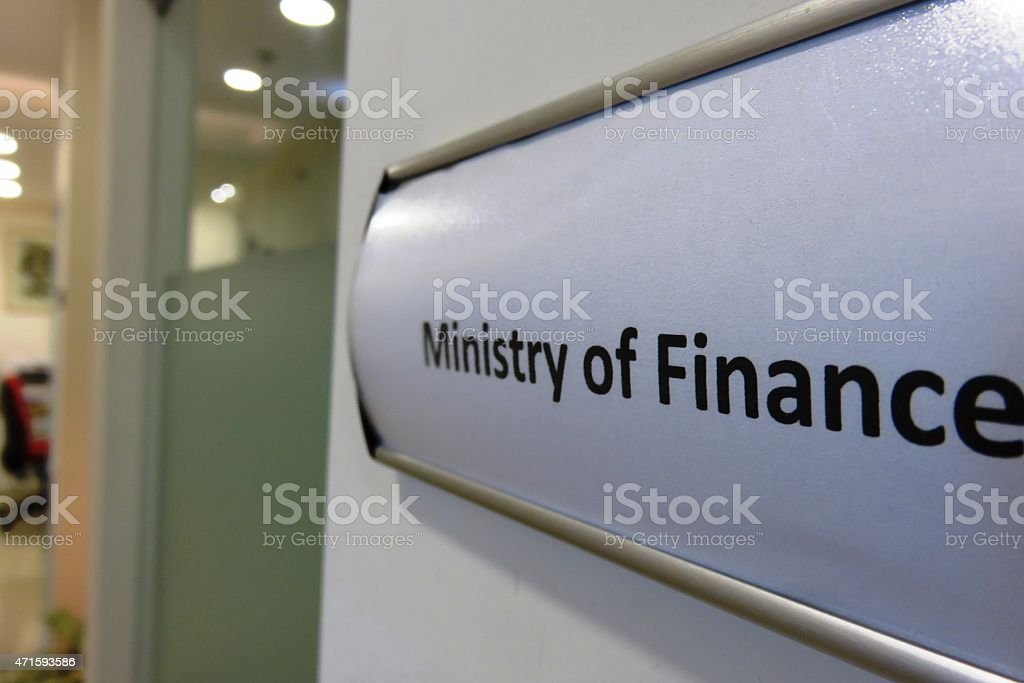 Minister of Finance stock photo