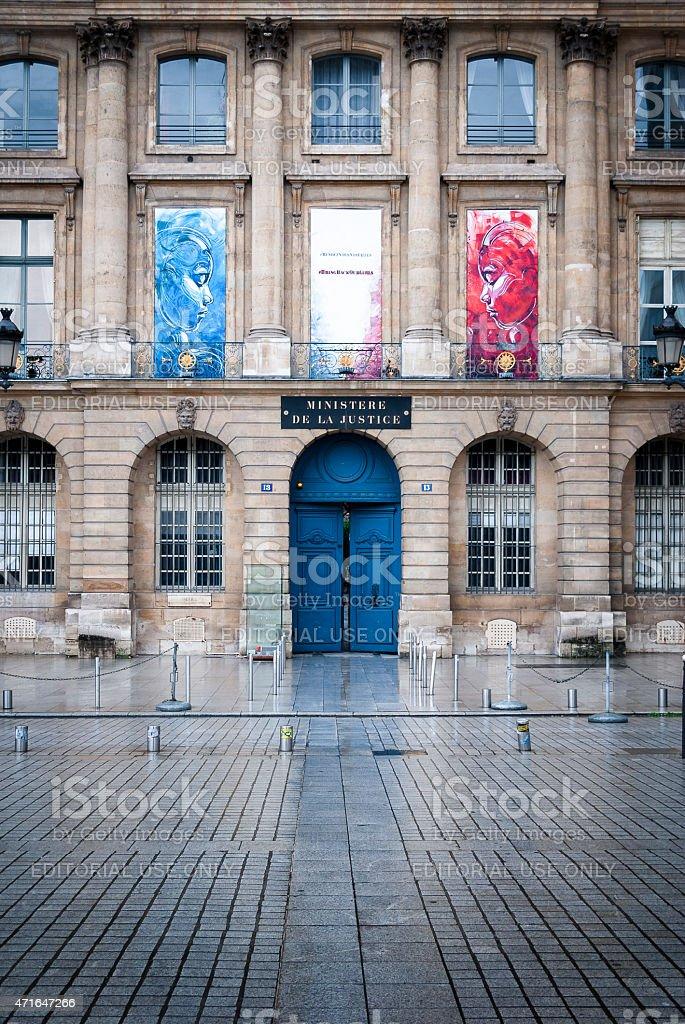 Ministere de la Justice. Ministry of Justice. Place Vendome. Paris. stock photo