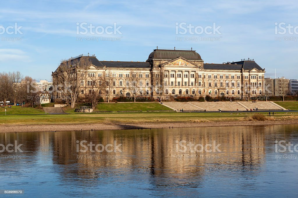 Ministry of Finance. Dresden. Germany. stock photo