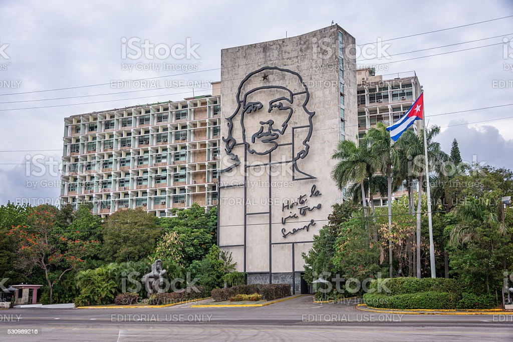 Ministry of the Interior building in Havana, Cuba stock photo