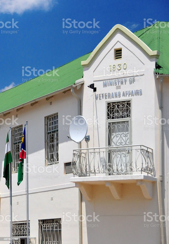 Ministry of Veterans Affairs, Windhoek, Namibia stock photo