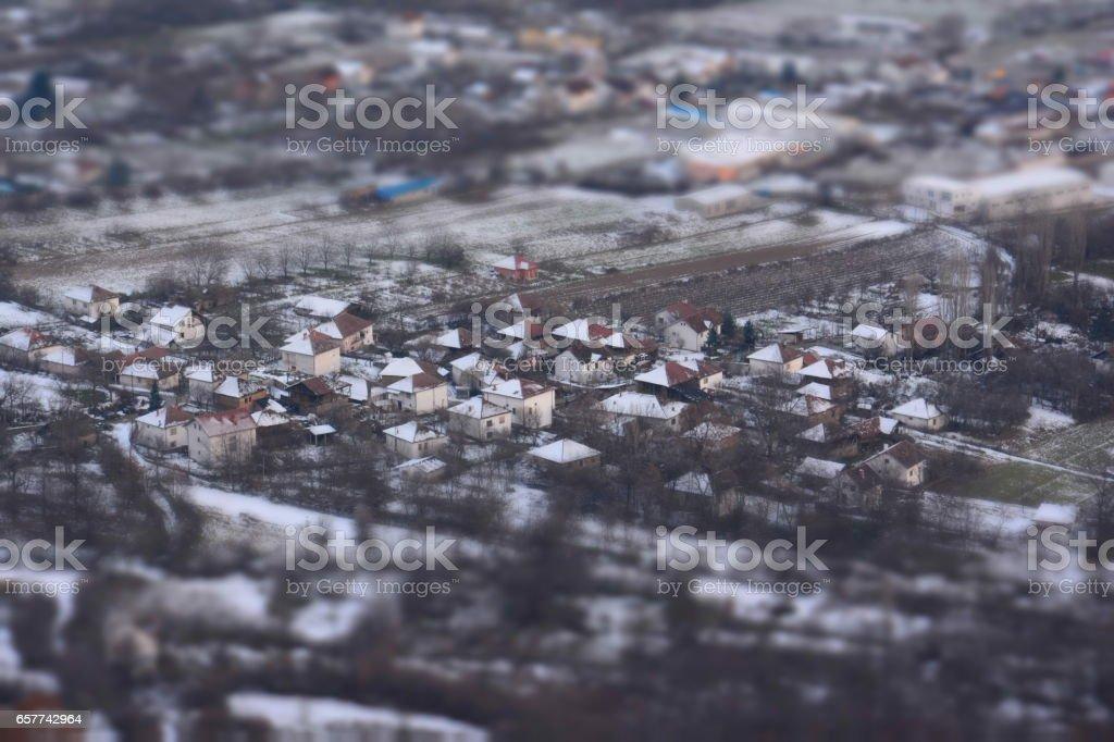 Minitown stock photo
