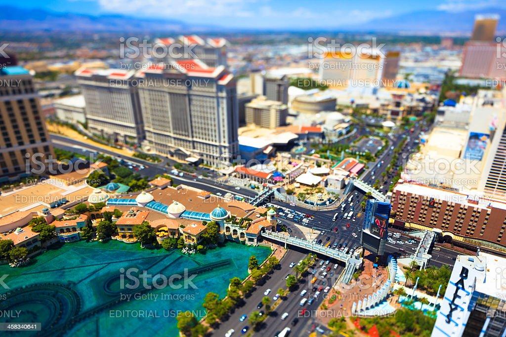 Miniture Las Vegas royalty-free stock photo