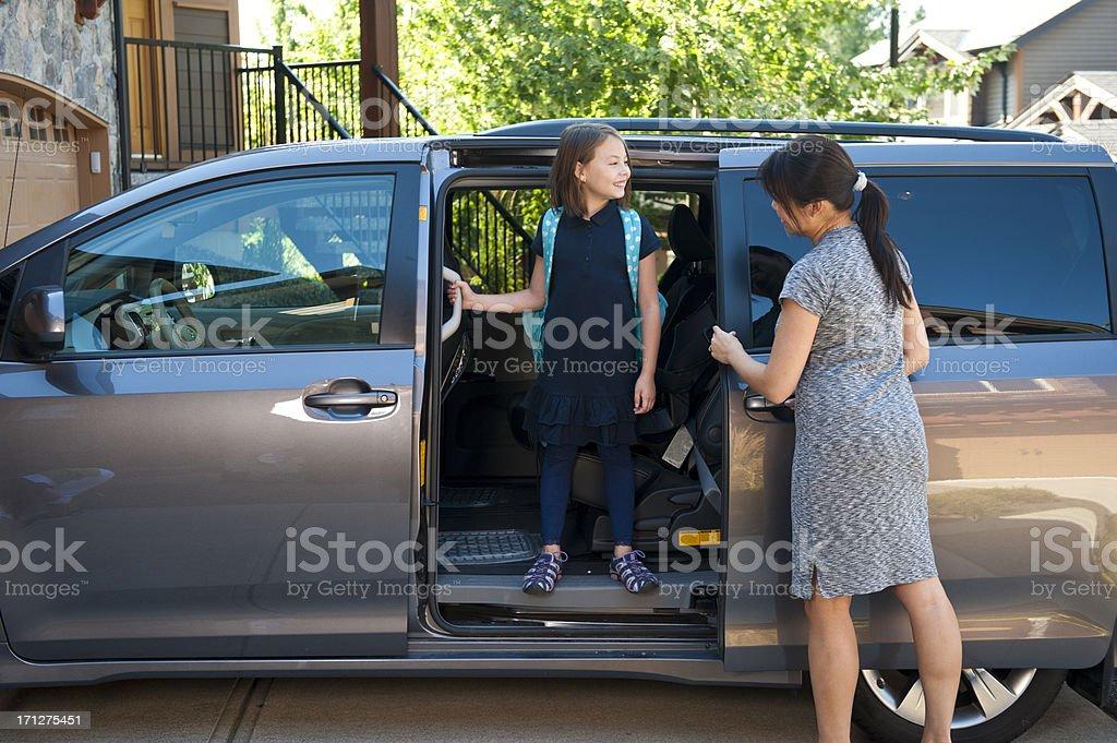 Minivan To School royalty-free stock photo