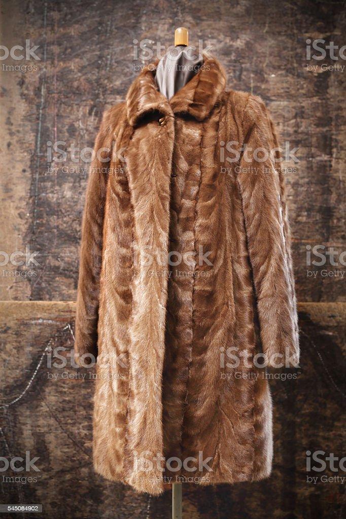 Mink coat. stock photo