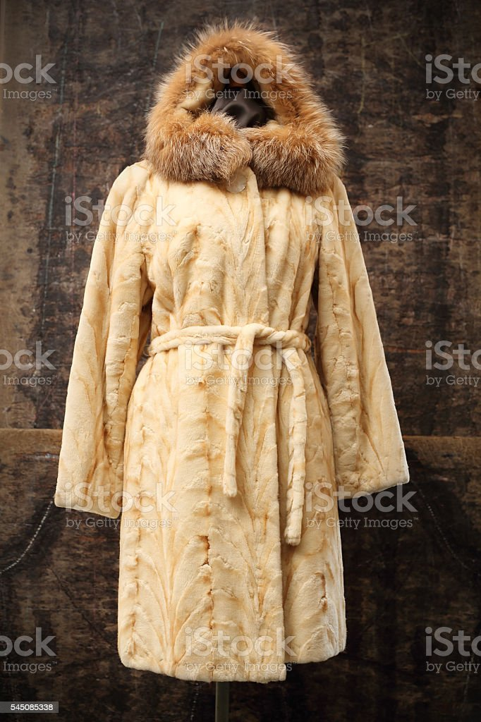 Mink coat. stock photo