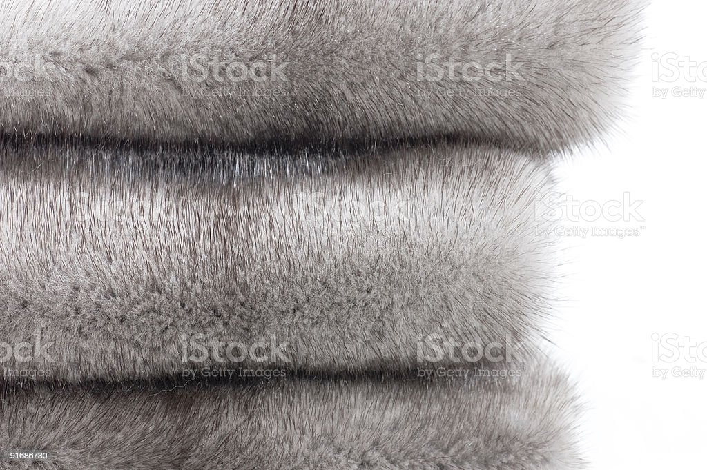 Mink fur close-up stock photo