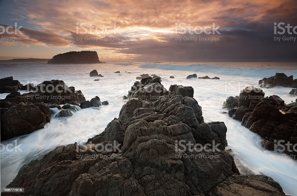 Minnamurra and Stack Island stock photo
