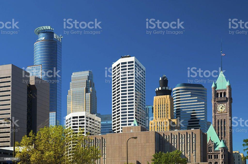 Minneapolis downtown buildings royalty-free stock photo