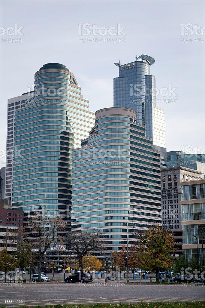Minneapolis Minnesota business buildings stock photo