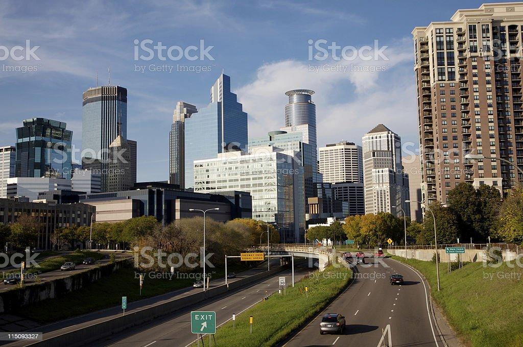 Minneapolis Minnesota skyline royalty-free stock photo