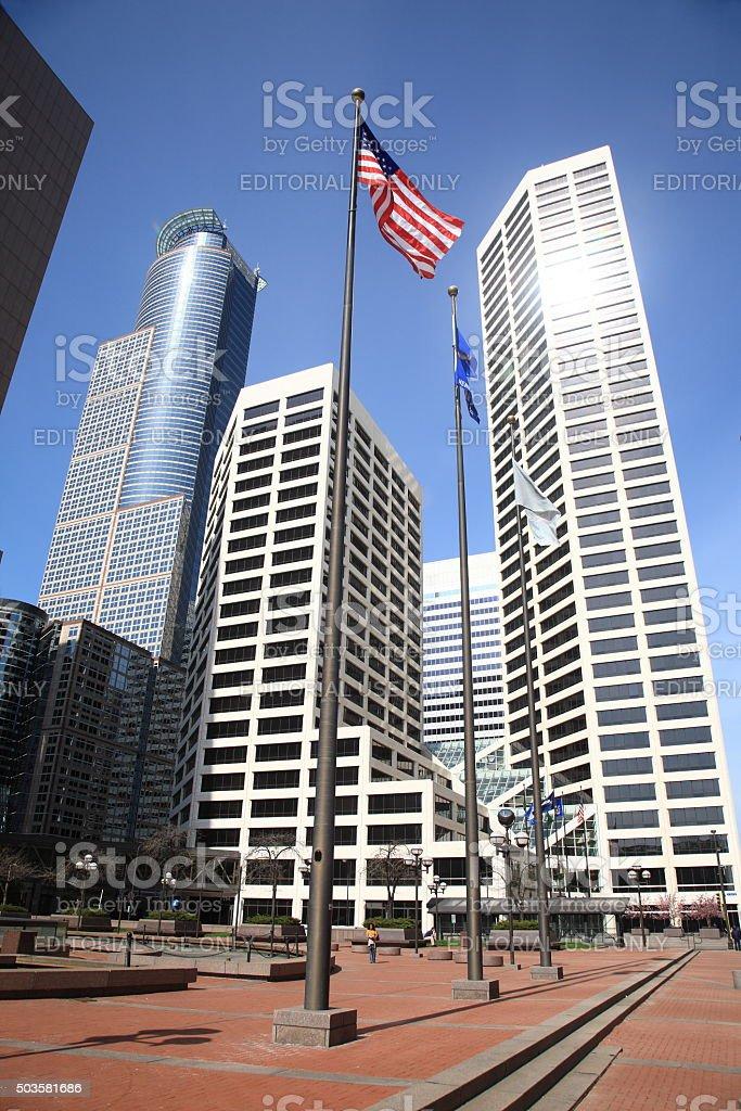Minneapolis Skyscrapers stock photo