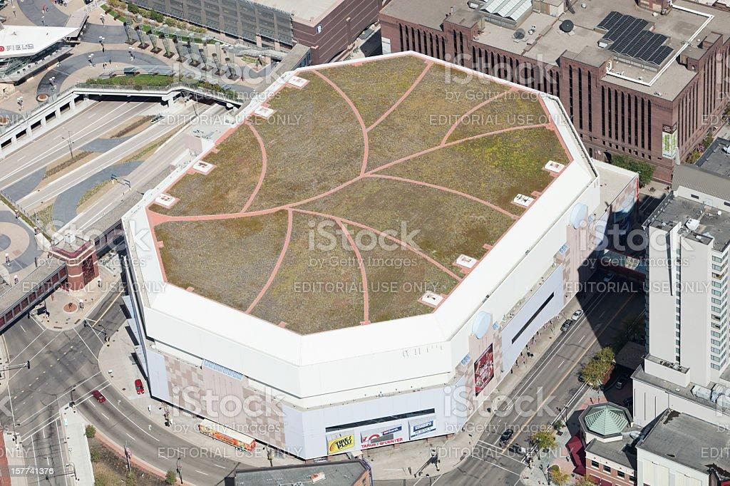 Minneapolis Target Center Aerial stock photo