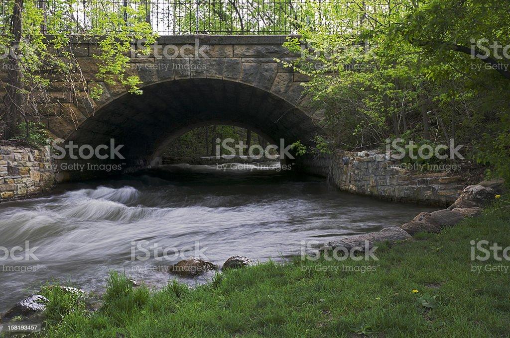 Minnehaha Park Aqueduct stock photo