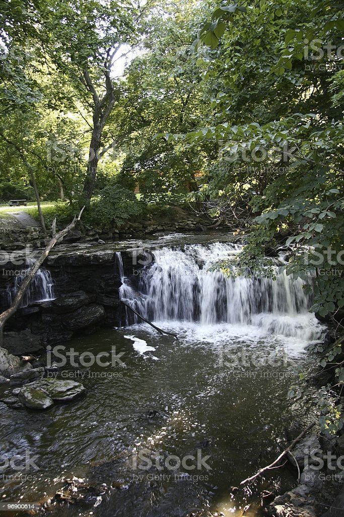 Minneopa Falls Minnesota stock photo