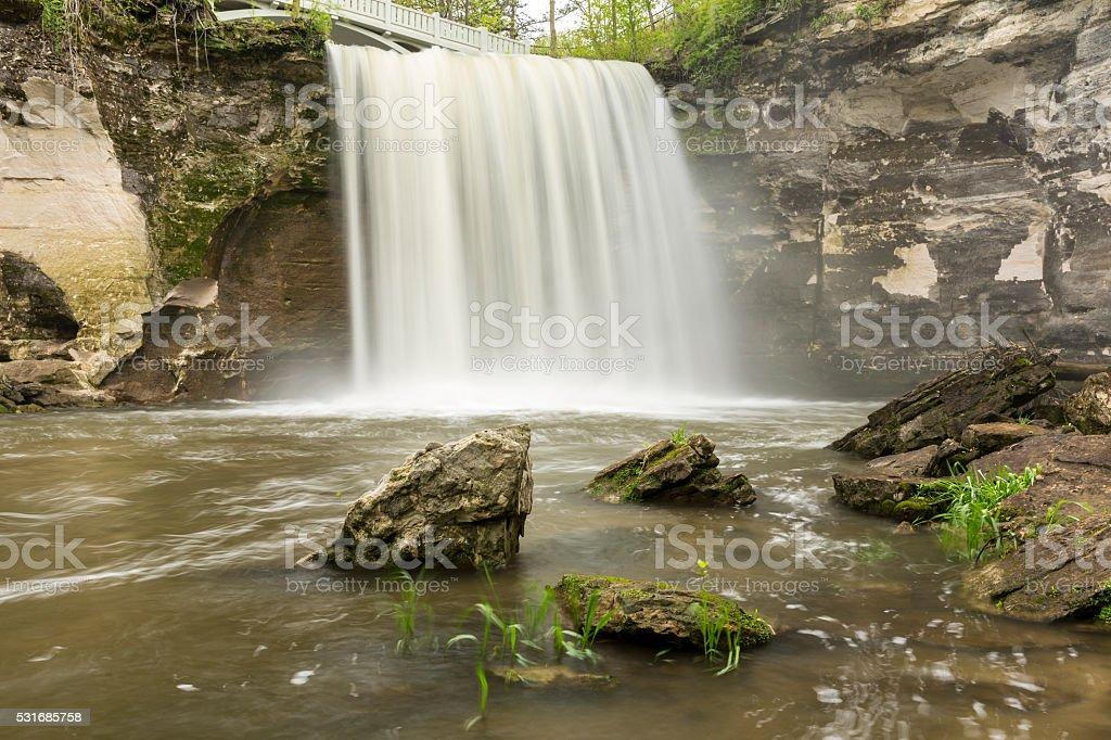 Minneopa Lower Falls stock photo