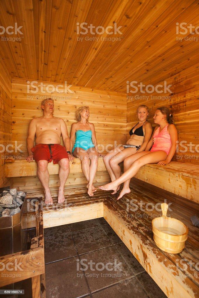 Minnesota cabin sauna stock photo