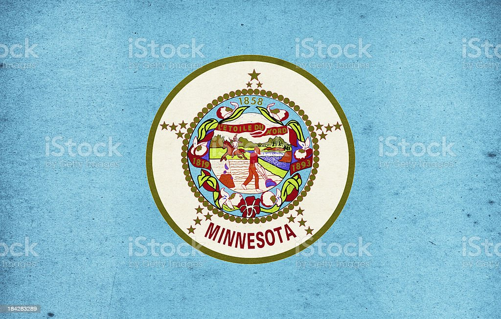 Minnesota Flag Close-Up (High Resolution Image) stock photo