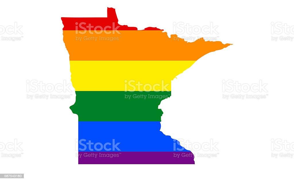 Minnesota Gay Pride State. stock photo