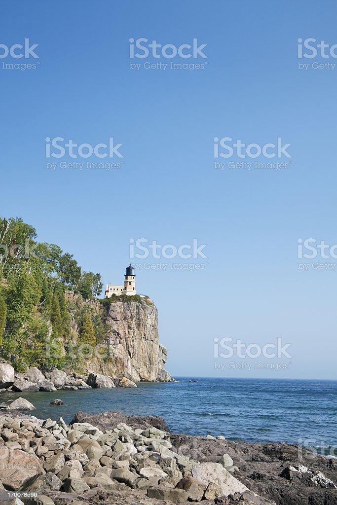 Minnesota Split Rock Lighthouse on Lake Superior Vt royalty-free stock photo