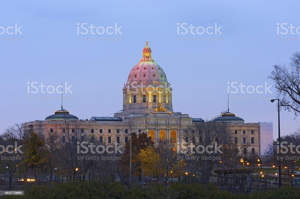 Minnesota State Capitol at Dusk stock photo