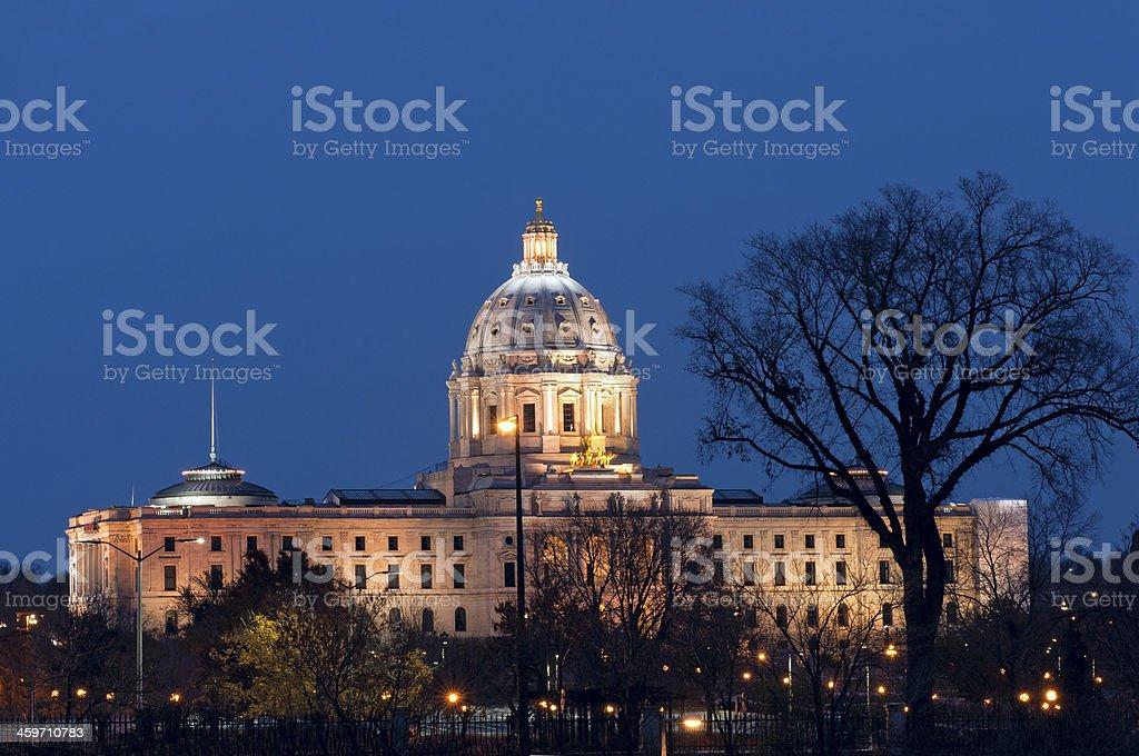 Minnesota State Capitol at Night stock photo