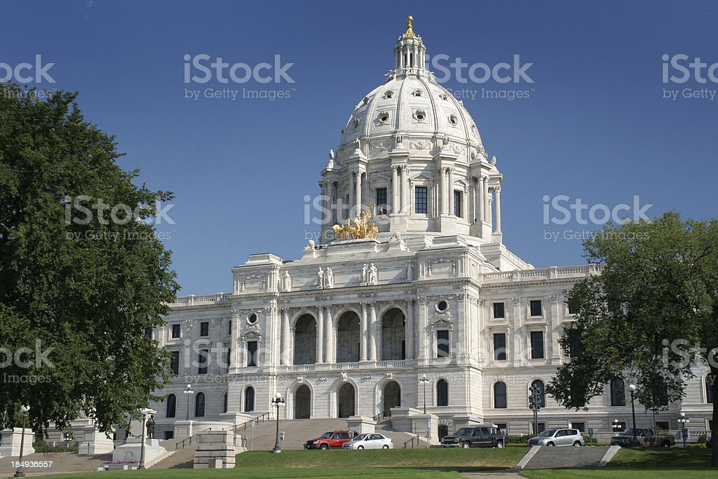 Minnesota State Capitol Building Exterior, St. Paul Famous Government Dome stock photo