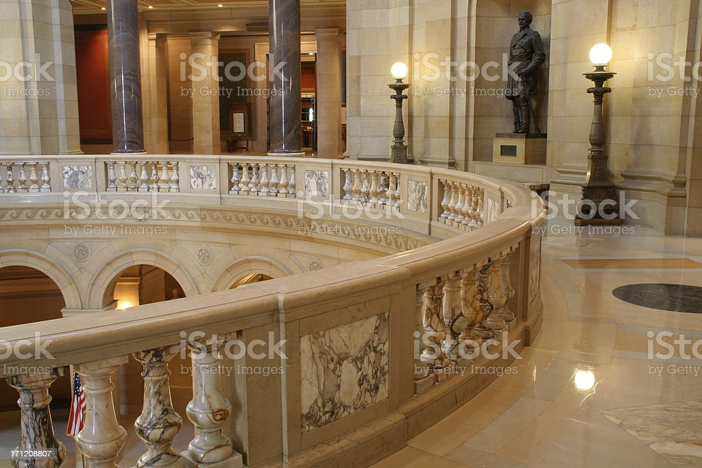 Minnesota State Capitol, Government Building Interior Balcony for Legislation, Politics stock photo