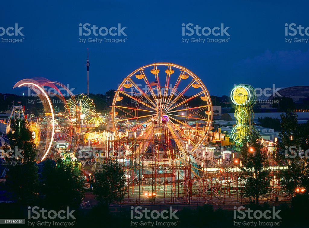 Minnesota State Fair Rides stock photo