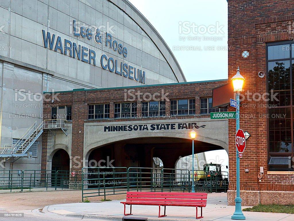 Minnesota State Fairgrounds during the Off-Season - Coliseum stock photo