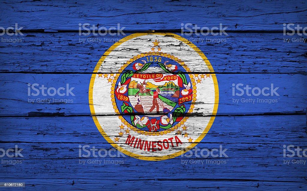 Minnesota State Flag Grunge Background stock photo