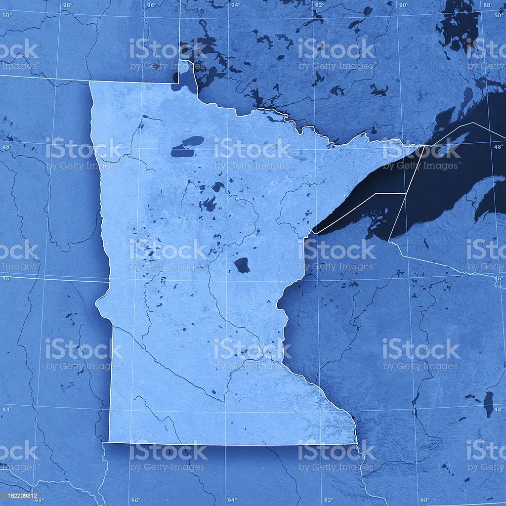 Minnesota Topographic Map stock photo