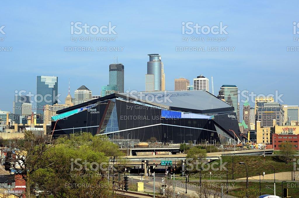 Minnesota Vikings US Bank Stadium in Minneapolis stock photo