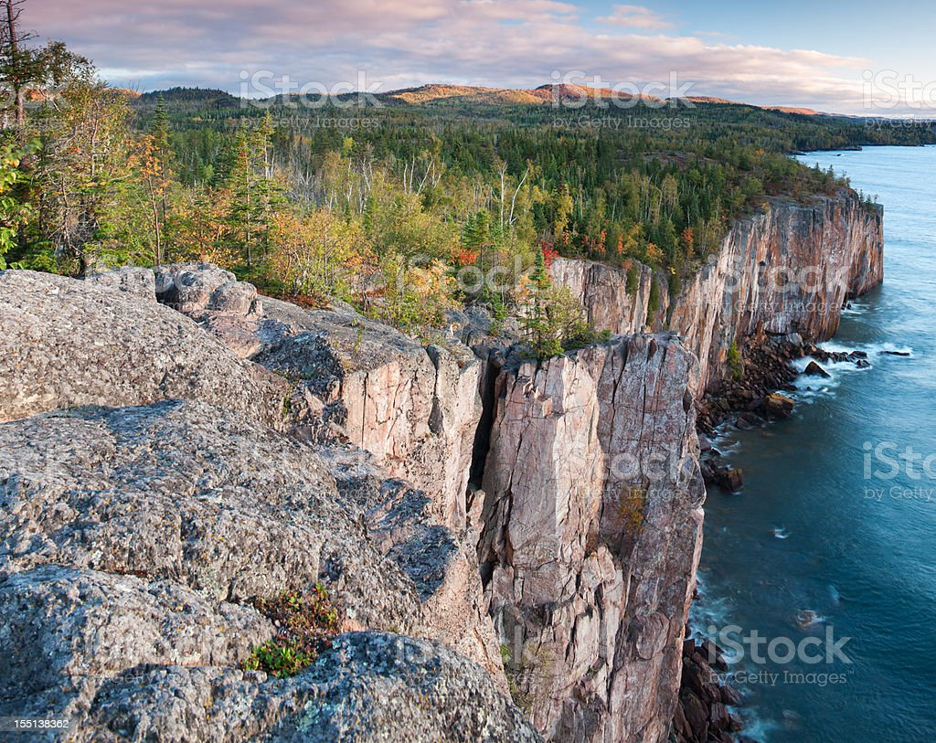 Minnesota's 'North Shore' on Lake Superior. stock photo
