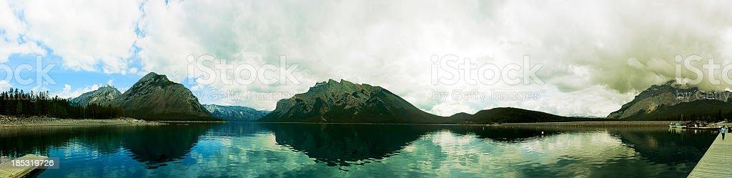 Minnewanka lake 360 degrees. royalty-free stock photo