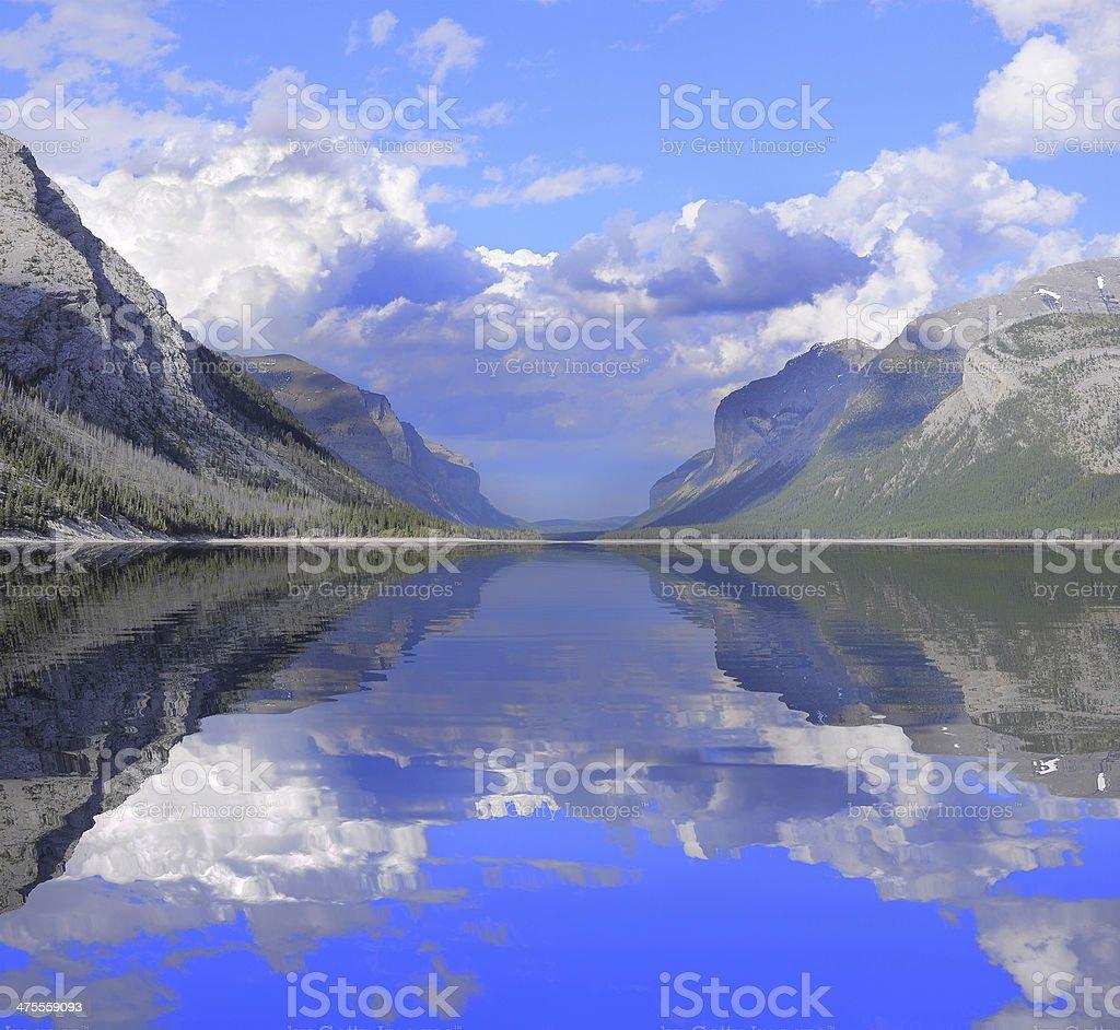 Minnewanka Lake. royalty-free stock photo